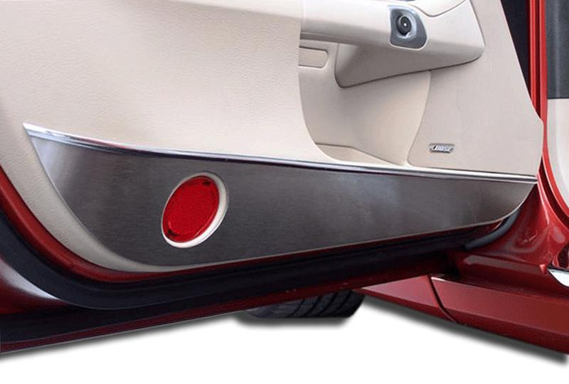 Corvette Door Guards Brushed 2Pc 2005-2013 C6 American Car Craft