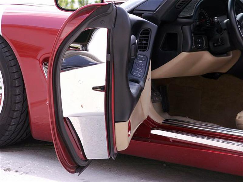 Corvette Door Jamb Covers - Standard Doors 2Pc 1997-2004 C5 & Z06 American Car Craft