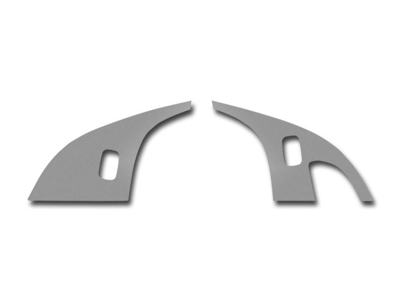 Corvette Door Lock Trim Plate 2Pc Brushed 2005-2013 C6 American Car Craft