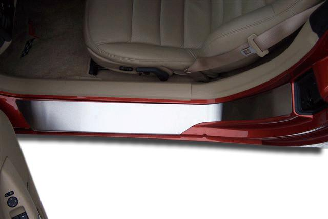 Corvette Doorsills Brushed Outer - Plain No Ribs 2Pc 2005-2013 C6 American Car Craft
