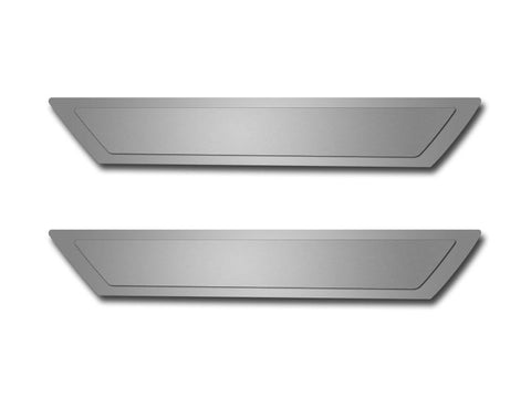 Corvette Doorsills Outer Polished with Brushed Inserts 2Pc 2005-2013 C6 American Car Craft