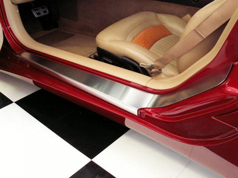 Corvette Doorsills Outer with NO Ribs 2pc 1997-2004 C5 & Z06