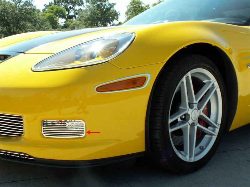 Corvette Driving Light Covers Polished Billet Style 2006-2013 Z06+ZR1+GS American Car Craft