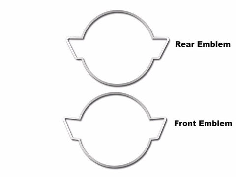 Corvette Emblem Trim Rings Polished 2Pc 1984-1990 C4