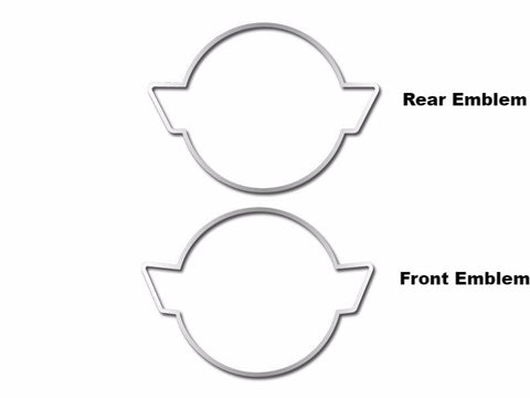 Corvette Emblem Trim Rings Polished 2Pc 1991-1996 C4
