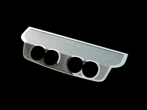 Corvette Exhaust Filler Panel B&B Route 66 Quad 4.0 Round Tips Perforated 2005-2013 C6 American Car Craft