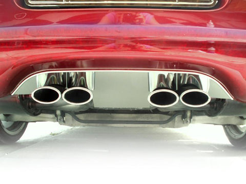 1997-2004 C5 & Z06 Corvette - Exhaust Filler Panel for Stock Exhaust | Polished Stainless Steel