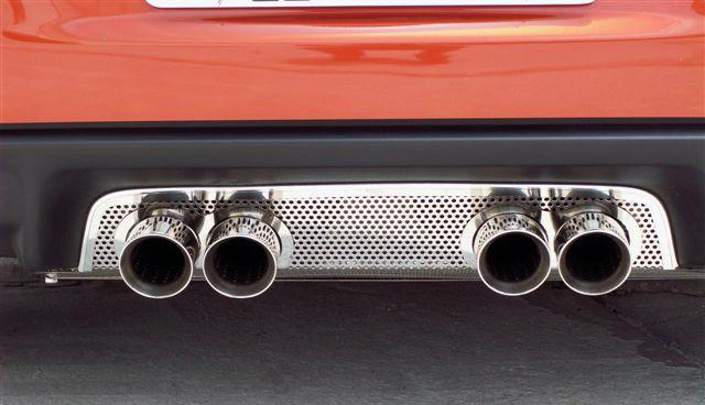 Corvette Exhaust Filler Panel - Stock Exhaust Perforated 2005-2013 C6 American Car Craft