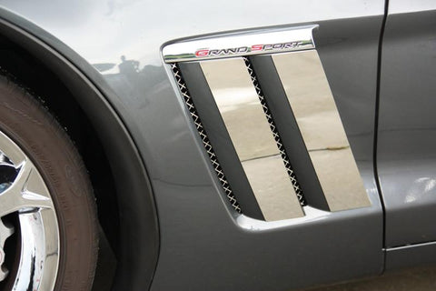 Corvette Fender Trim Plates 4Pc Polished 2010-2013 Grand Sport Only