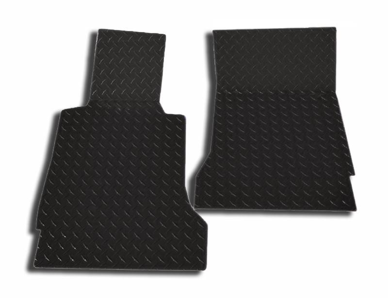 Corvette Floor Mats - Diamond Plate 2Pc Black Show 2005-2013 C6 American Car Craft