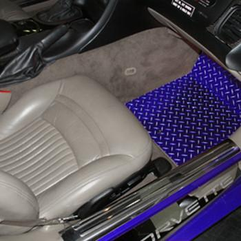 Corvette Floor Mats - Diamond Plate 2Pc Blue Show must specify year 1999-2004 C5 & Z06 American Car Craft