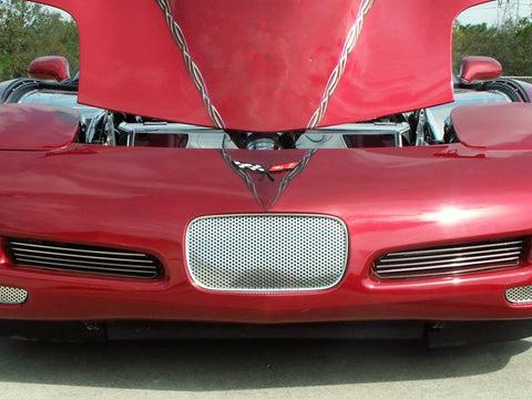 Corvette Front Tag Plate Perforated 1997-2004 C5 & Z06