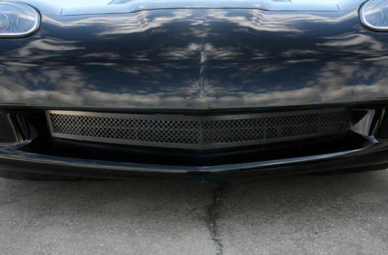 Corvette Grille Laser Mesh Front Blakk Stealth 2005-2012 C6 only American Car Craft