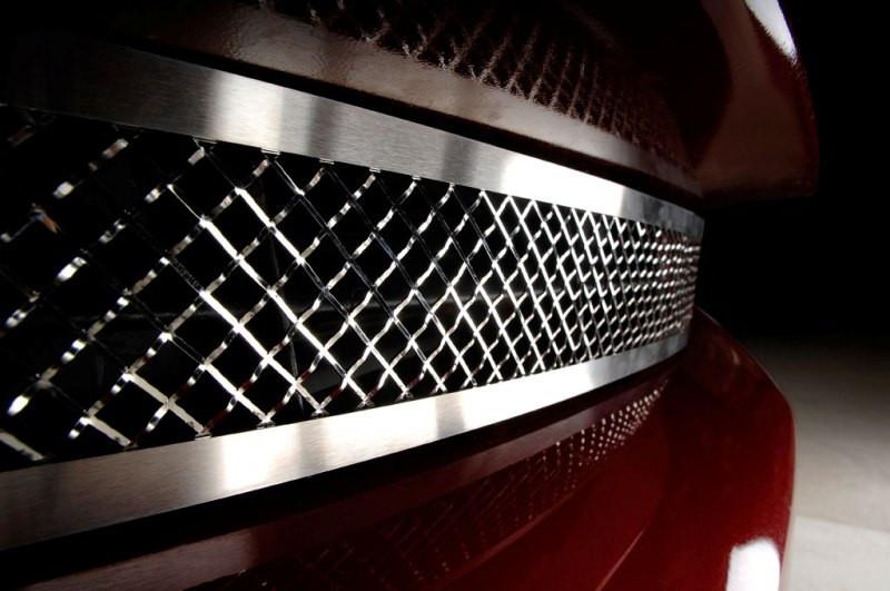 Corvette Grille Polished Laser Mesh Front 2005-2013 C6 only American Car Craft