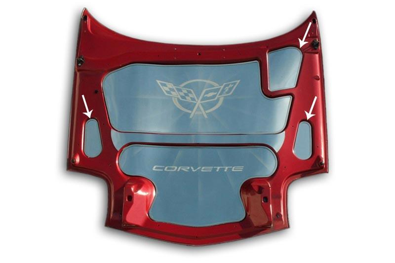 Corvette Hood Accent 3Pc Kit Polished 1997-2004 C5 & Z06 American Car Craft