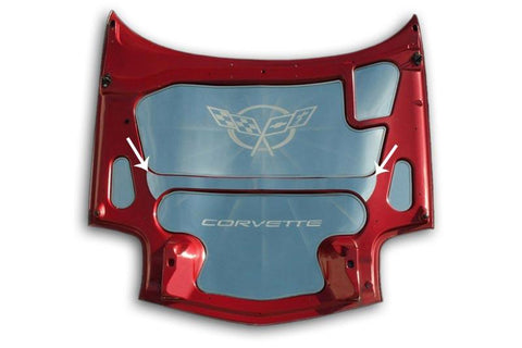 Corvette Hood Center Brace Cover Polished 1997-2004 C5 & Z06