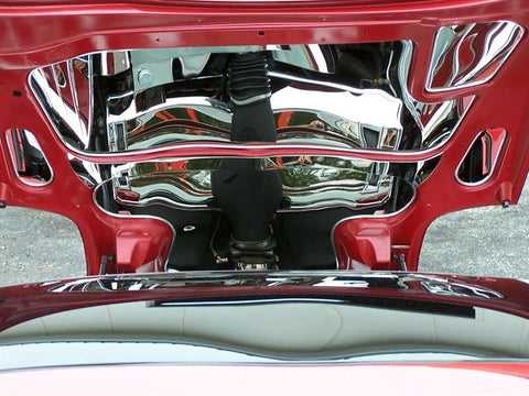 1997-2004 C5 & Z06 Corvette - Hood Panel Inserts 5Pc | Polished Stainless Steel
