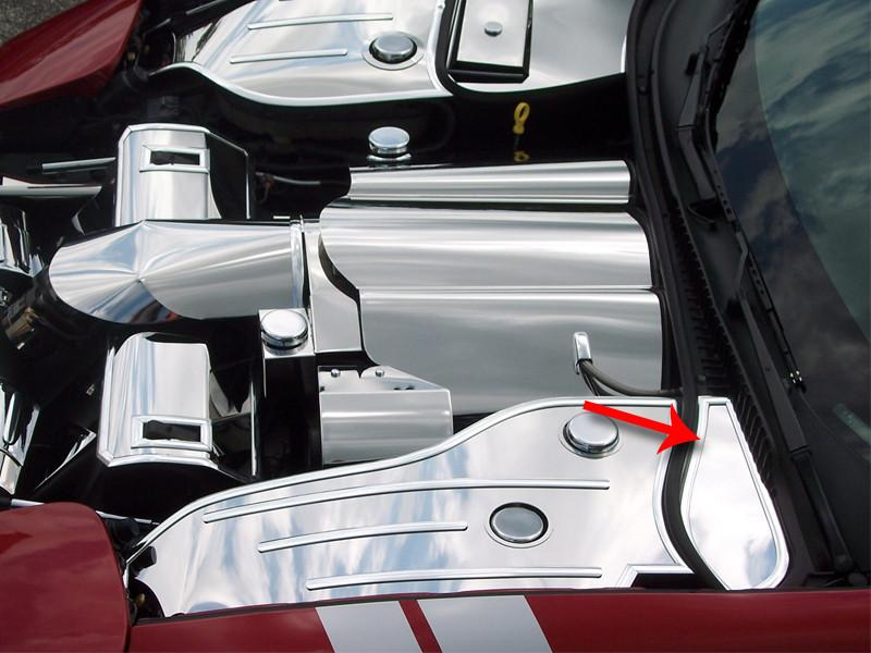 Corvette Inner Fender Cover Extender - Driver Side Only Polished 1997-2004 C5 & Z06 American Car Craft