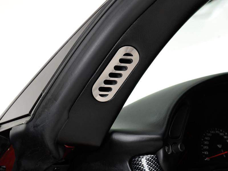 Corvette Pillar Vent Covers 2Pc Brushed 1997-2004 C5 & Z06 American Car Craft