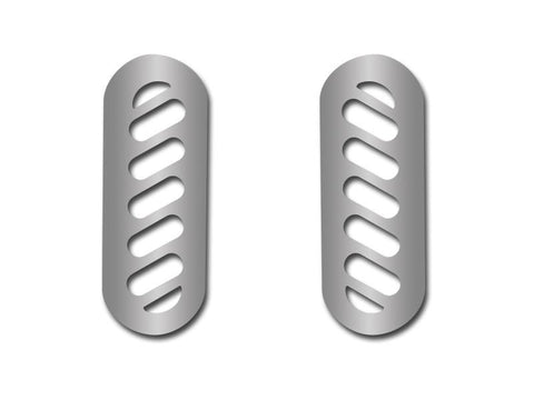 Corvette Pillar Vent Covers 2Pc Polished 1997-2004 C5 & Z06