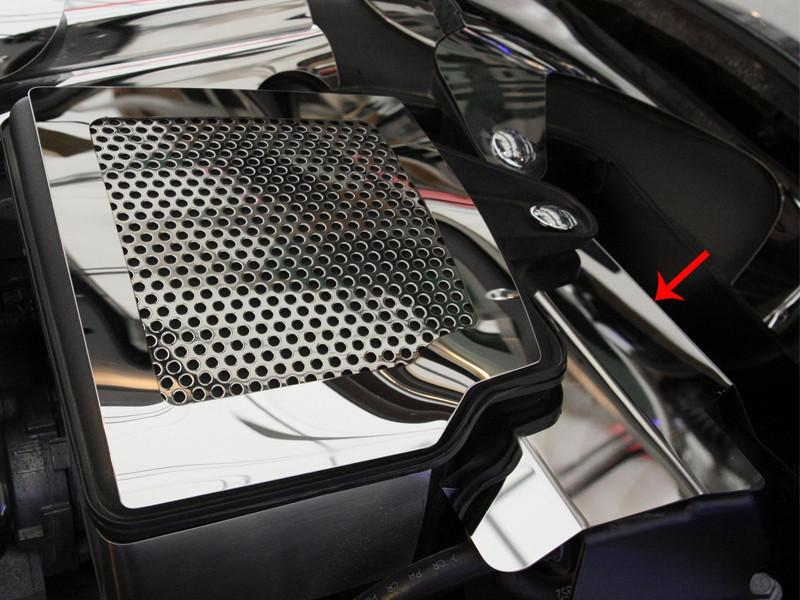 Corvette Radiator Cover Polished Component 2Pc 2008-2013 C6+GS American Car Craft