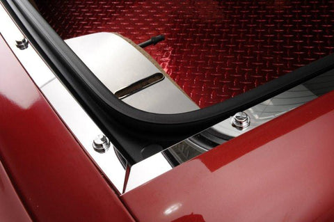 Corvette Rear Deck Trim 3Pc Kit Polished 1997-2004 C5 Coupe only