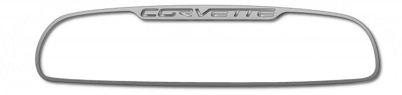 Corvette Rear View Mirror Trim - Corvette Script 2005-2013 C6 Auto-Dim Mirror American Car Craft