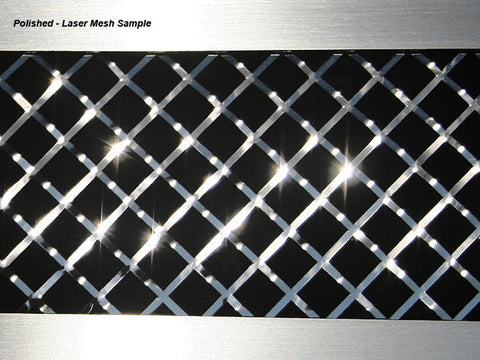 Corvette Side Vent Grilles 2Pc Laser Mesh Polished 1997-2004 C5 & Z06 American Car Craft
