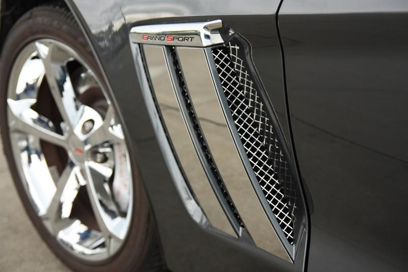 Corvette Side Vent Grilles Laser Mesh 2Pc Polished 2010-2013 Grand Sport only American Car Craft