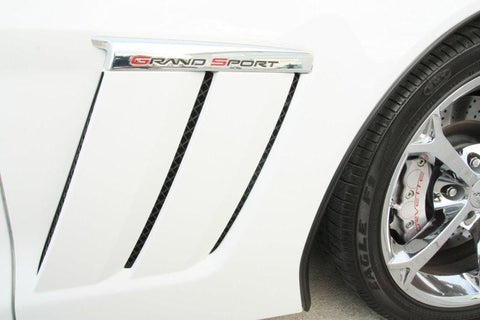 Corvette Side Vent Grilles Laser Mesh 6Pc Blakk Stealth 2010-2013 Grand Sport only American Car Craft