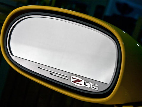 2006-13 Z06 Corvette - Side View Mirror Trim Z06 505hp Style 2Pc [Standard] | Brushed