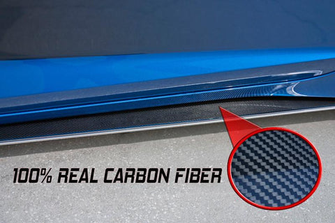 2014-2019 C7 Corvette - Stingray Carbon Fiber Side Skirts | Stainless Steel w/Carbon Fiber