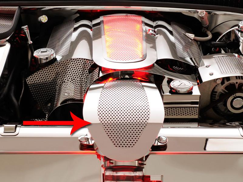 Corvette Stock Air Tube Cover Perforated 1997-2004 C5 & Z06 American Car Craft