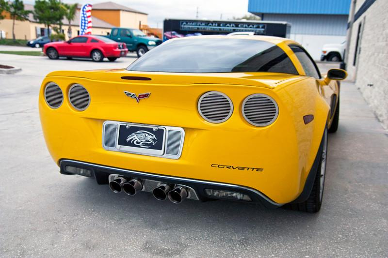 "Corvette Taillight Covers"" NEW Billet Style"" w/ Black out Kit 8pc 2005-2013 C6 all NEW DESIGN American Car Craft"