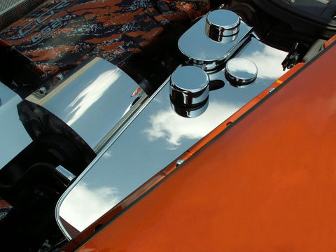 Corvette Water Tank Cover Polished w/caps - 2005-2013 C6 Automatic only American Car Craft