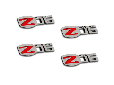 Corvette Z06 505HP Badges 4Pc Polished 2005-2013 C6 all American Car Craft