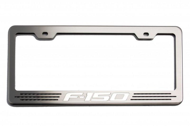 "Custom Ford F-150 License Plate Frame with ""F-150"" Lettering American Car Craft"