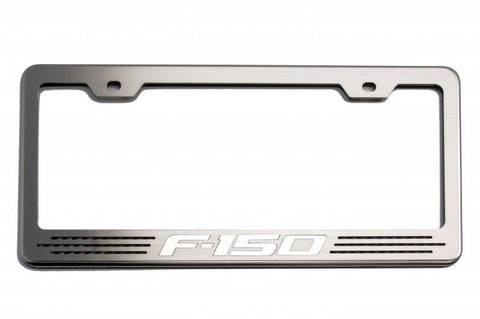 "Custom Ford F-150 License Plate Frame with ""F-150"" Lettering"