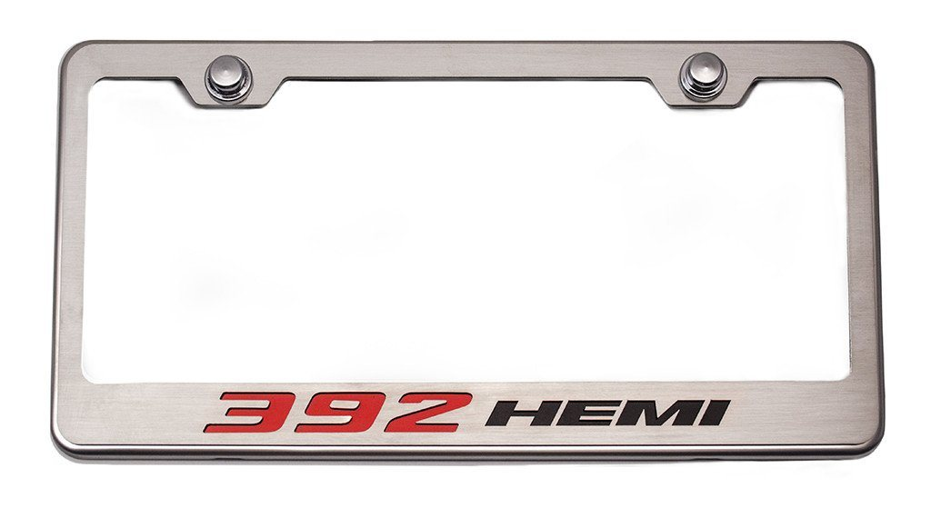 "Custom Mopar License Plate Frame ""392 HEMI"" Style American Car Craft"