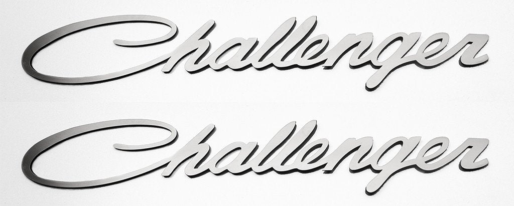 Dodge Challenger Side Fender Emblem Badge 2pc | Brushed or Polished American Car Craft