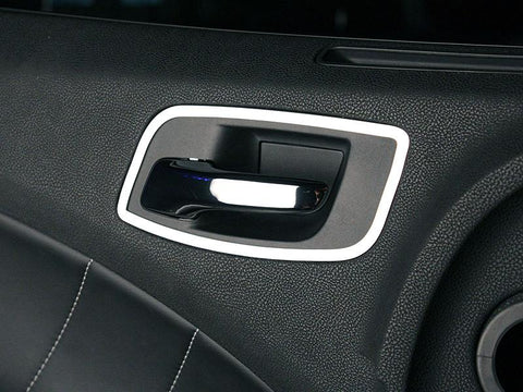 Dodge Charger Door Handle Trim Front Polished 2Pc 2011-2013