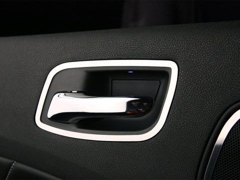 Dodge Charger Door Handle Trim Rear Polished 2Pc 2011-2013