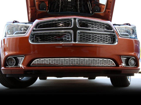 Dodge Charger Polished Stainless 2Pc Fog Light Factory Overlays 2011-2013 American Car Craft