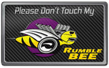 Dodge RAM - Please Don't Touch My Rumble Bee Dash Plaque | Choose Color American Car Craft