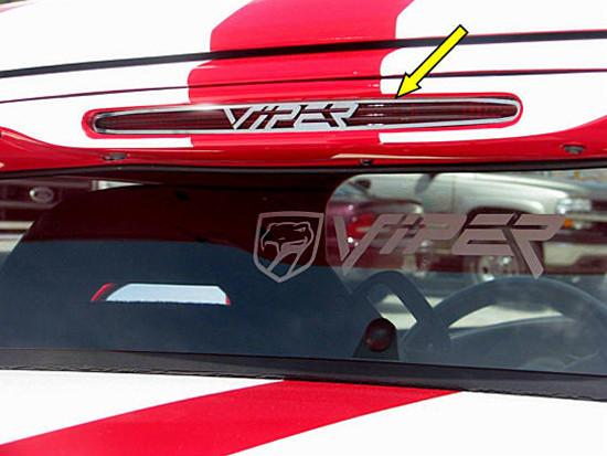 "Dodge Viper 3rd Brake Light Trim with ""Viper"" script Polished 1992-2002 American Car Craft"