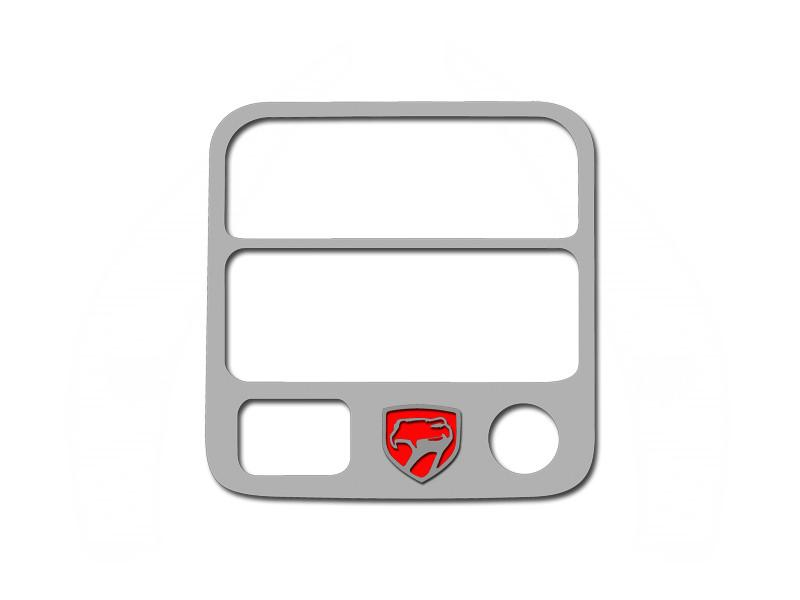 Dodge Viper A/C & Radio Control Trim Ring with Viper Head Logo Polished 1992-1995 American Car Craft
