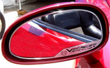 "Dodge Viper Side View Mirror Trim ""Viper SRT-10"" and Viper Head 2Pc Brushed 2003-2004 American Car Craft"