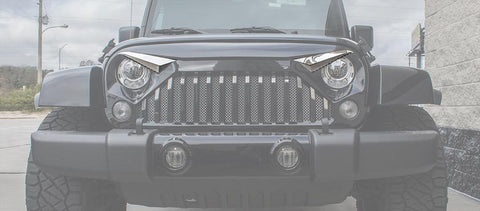 Eyebrow Kit (07-18 Jeep Wrangler JK with Gladiator Grille) American Car Craft