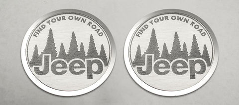 Find Your Own Road Badges (07-18 Jeep Wrangler JK) | 2PC