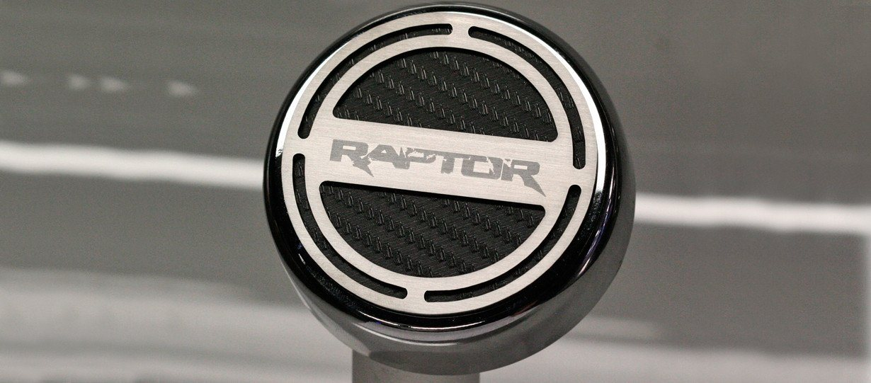 Ford Raptor - Fluid Cap Cover 6Pc Set Raptor logo Carbon Fiber Colored Inlay American Car Craft